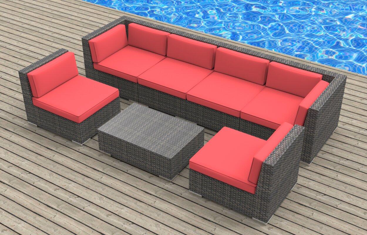 Urban Furnishings Mason 7 Piece Deep Seating Group With