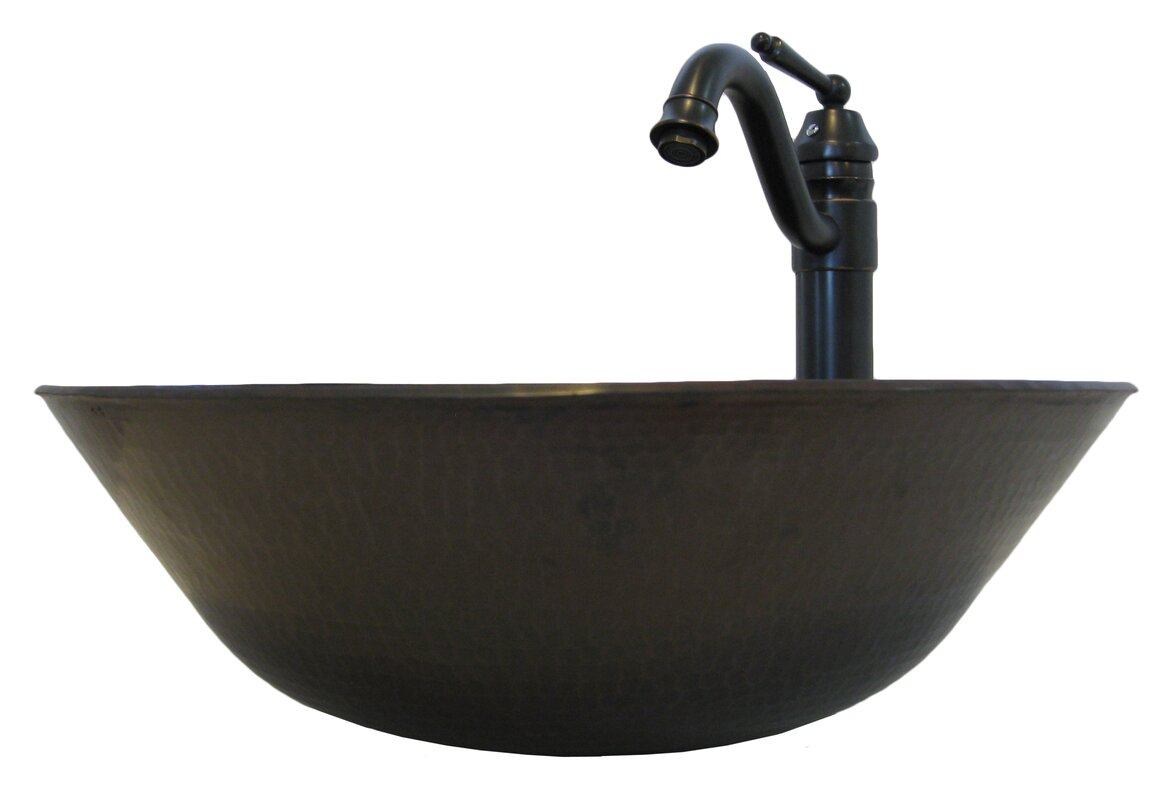 Novatto Catalonia Metal Circular Vessel Bathroom Sink with Faucet ...