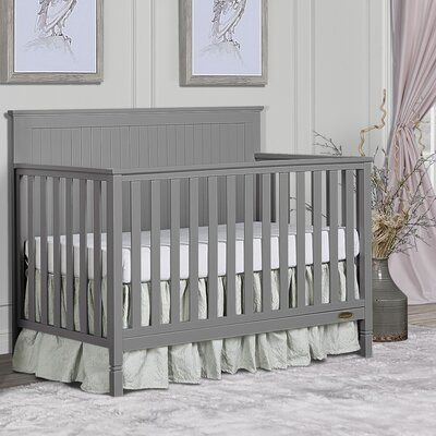 Alexa 5-in-1 Convertible Crib Dream On Me Color: Storm Grey