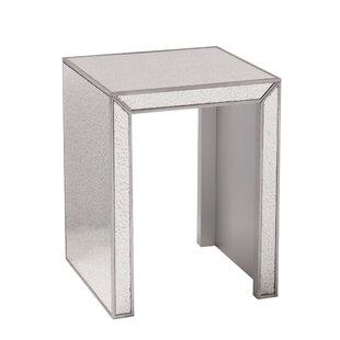 Wonderful Elliott Mirrored Side Table