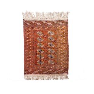 Arthurs Handwoven Wool Orange Rug by Parwis