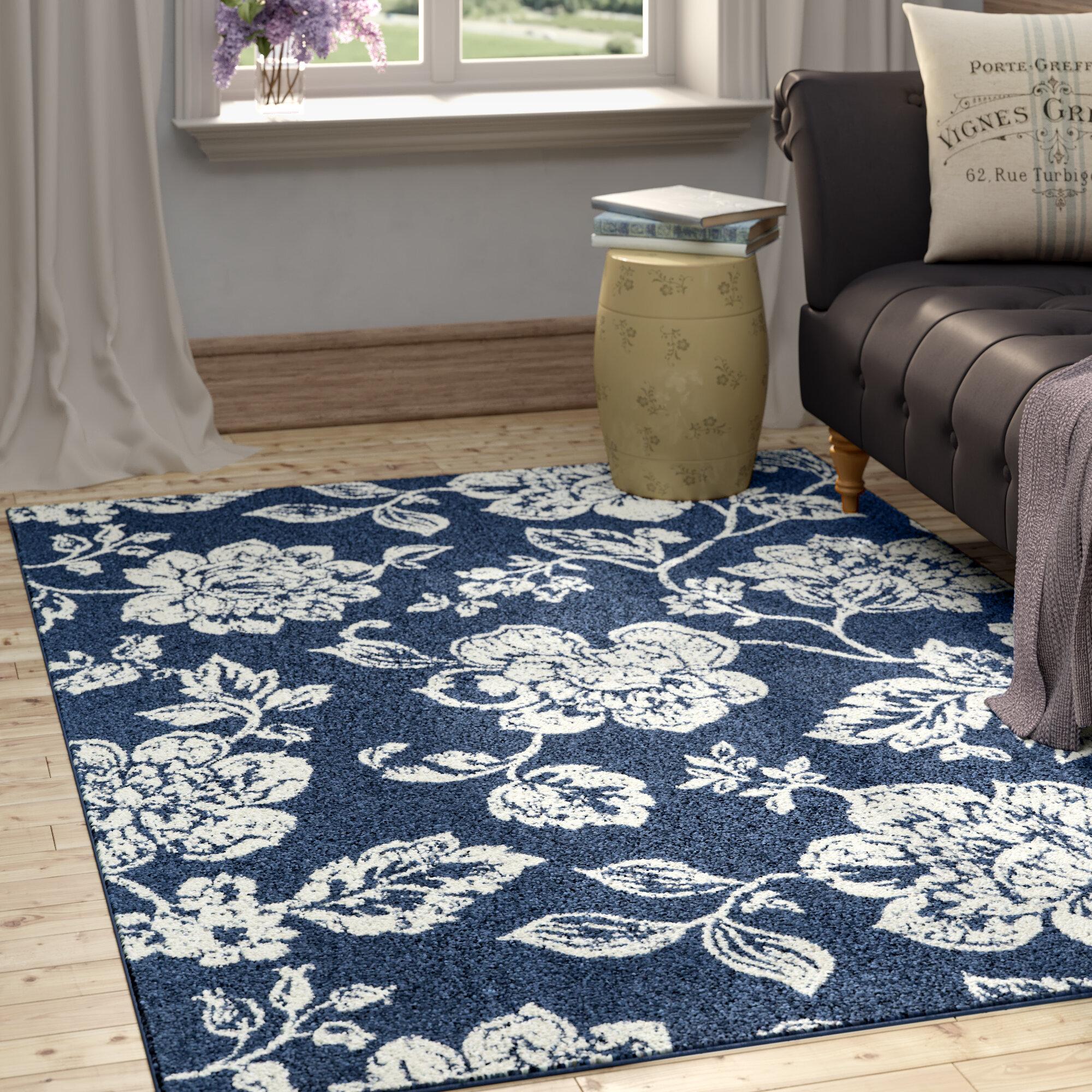 Kofi Blue Indoor Outdoor Area Rug Reviews Wayfair