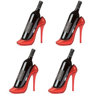 Caffey High Heel Holder 1 Bottle Tabletop Wine Rack (Set of 4)