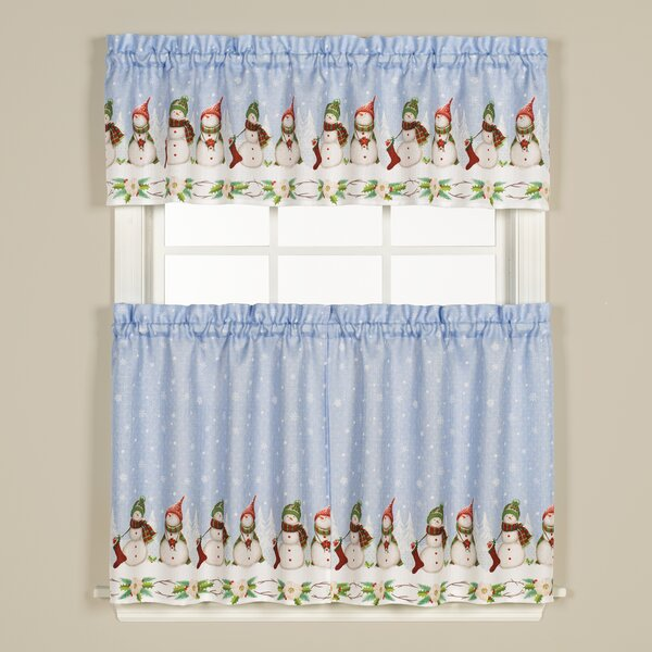 Kitchen Christmas Curtains Amazon Com: The Holiday Aisle Winter Wonderland Cafe Curtain & Reviews