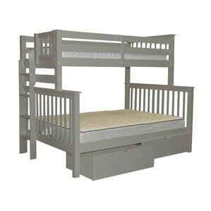 Mission Twin over Full Bunk Bed with Storage by Bedz King