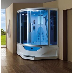 Combination 61 X 89 Neo Angle Sliding Steam Shower With Base Included