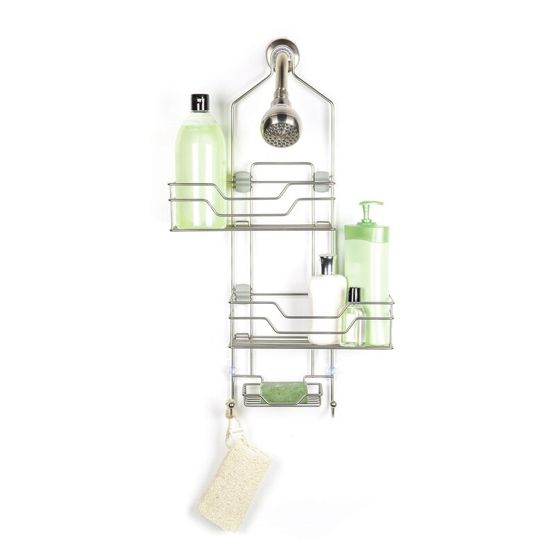 Rebrilliant Madeline Over the Shower 2 Tier Shower Caddy with ...