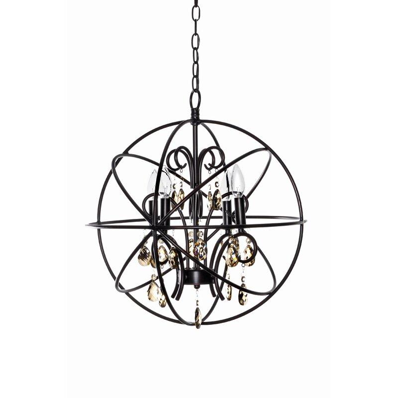 Alden 4 Light Globe Chandelier Reviews
