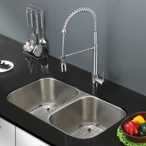 Parmi 33.25″ x 18.5″ Undermount Double Bowl Kitchen Sink