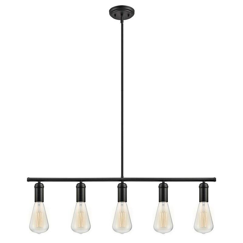 Petite suspension 5 lumières Chromeo