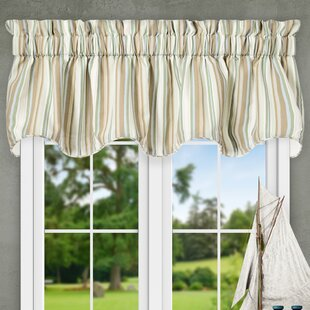 Top Striped Valances & Kitchen Curtains You'll Love | Wayfair IY42