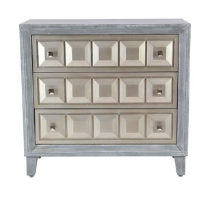 Alvaro Modern Wood 3 Drawer Accent Cabinet