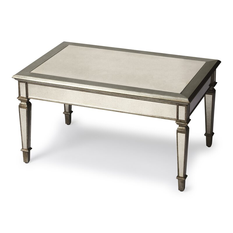 Birch lanetm leighton mirrored coffee table reviews wayfair for Wayfair mirrored coffee table