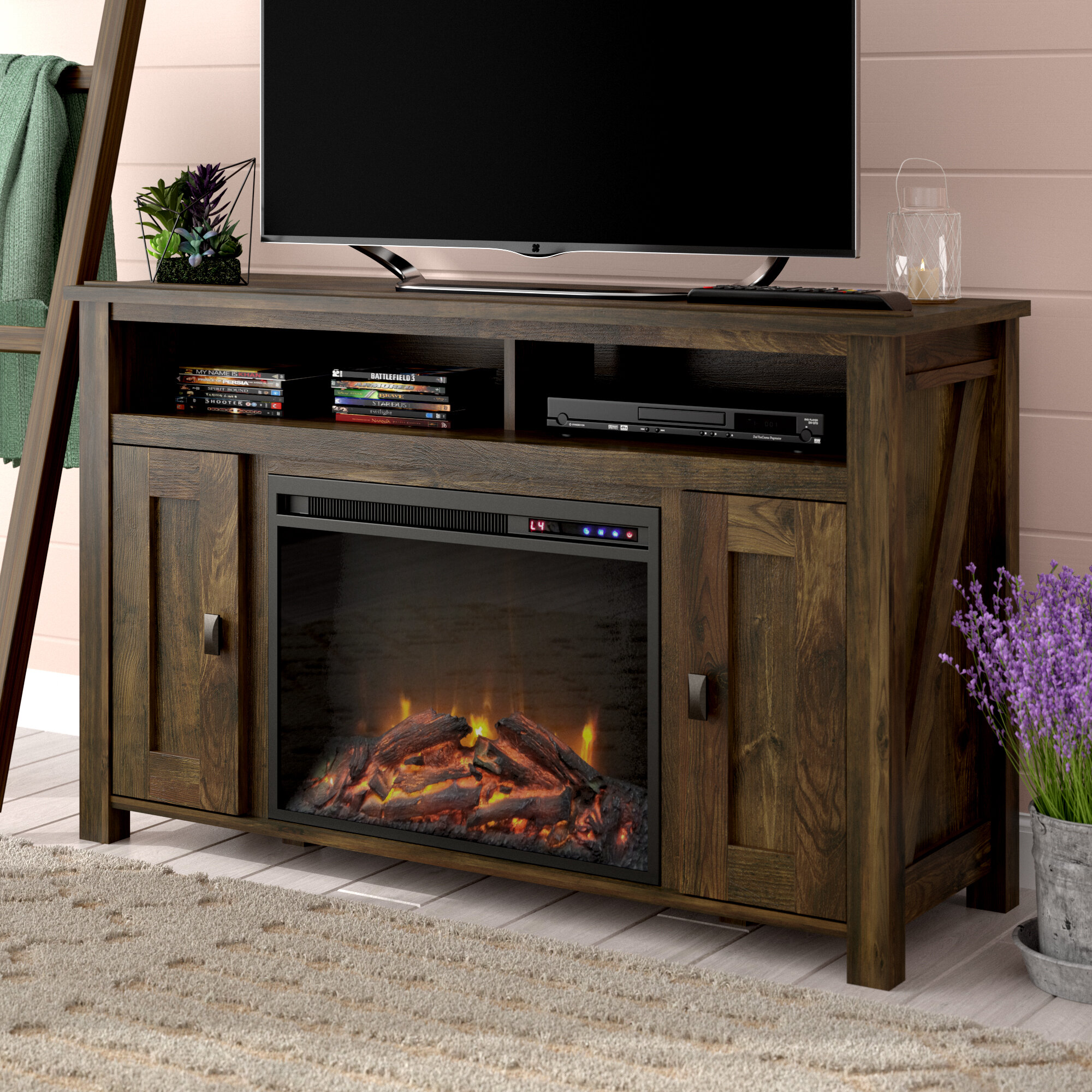 Whittier Tv Stand For Tvs Up To 50 With Fireplace