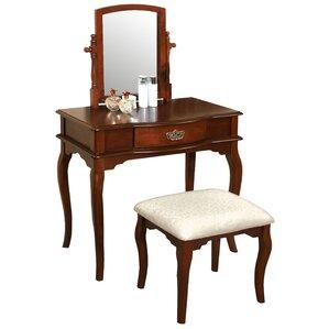 dark wood vanity table. 3 Piece Mercy Vanity Set Bedroom  Makeup Vanities Joss Main