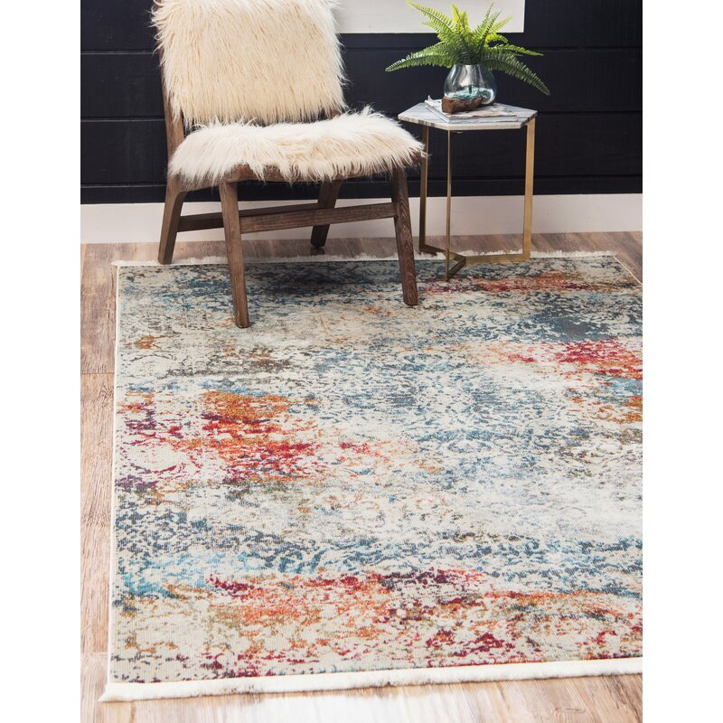 Blue Bird Kitchen Rug