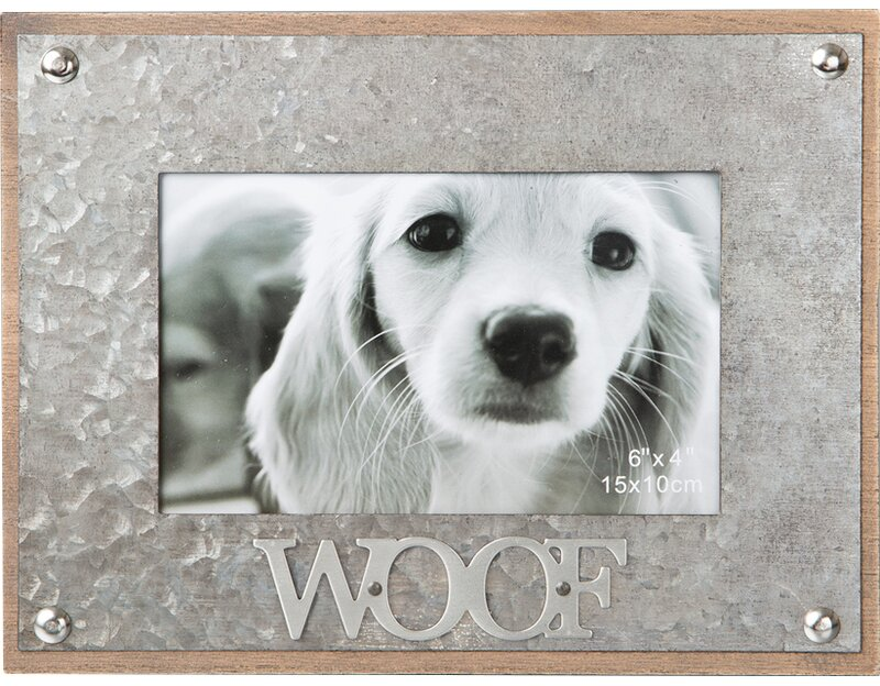 FashionCraft Woof Metal Picture Frame & Reviews | Wayfair