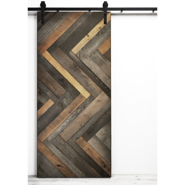dogberry collections herringbone wood stained interior barn door u0026 reviews wayfair