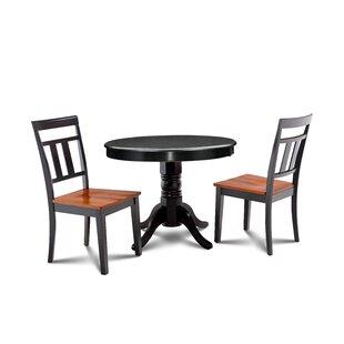 Llewellyn 3 Piece Solid Wood Dining Set Spacial Price