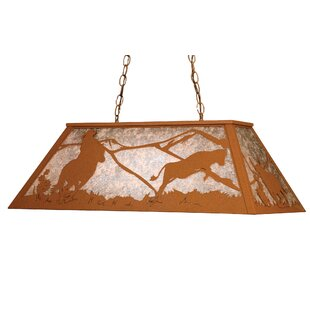 Cowboy And Steer 6 Light Pool Table Lights
