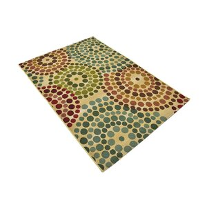 Ronda Beige Geometric Indoor/Outdoor Area Rug