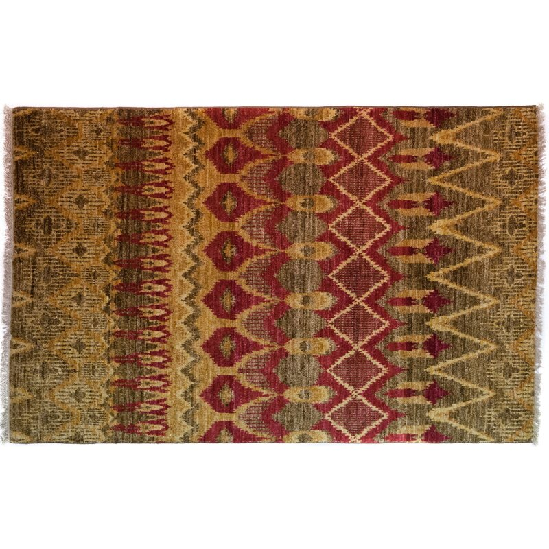Solo Rugs One Of A Kind Ikat Hand Knotted Multicolor Area Rug Perigold