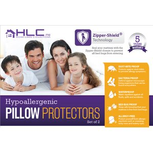 Bed Bug Proof Zippered Pillow Protector (Set of 2) by HLC.ME