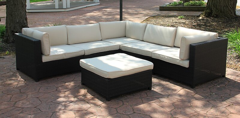 Great Outdoor Furniture Sectional Sofa Set With Cushions