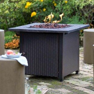 Wicker Propane Gas Fire Pit Table