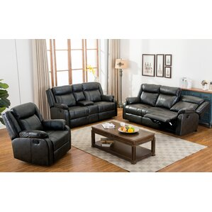 Novia 3 Piece Living Room Set by Roundhill Furniture