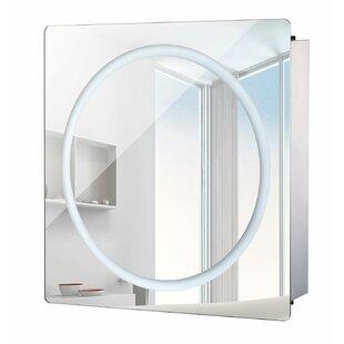 Led bathroom mirror cabinet wayfair 60 x 60cm led illuminated mirror cabinet with lighting aloadofball Image collections