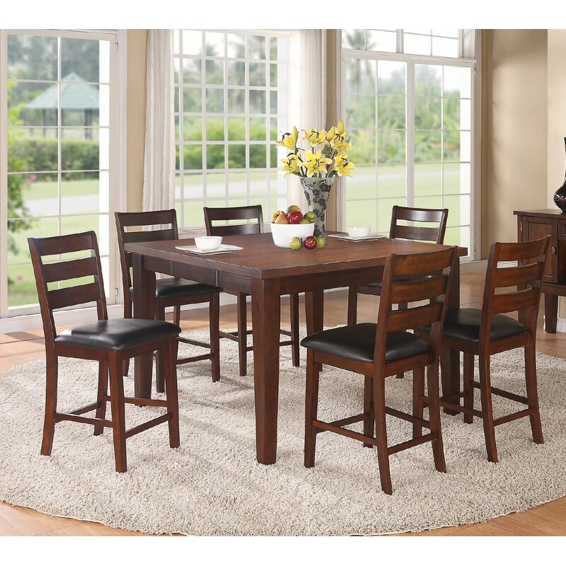 Delicieux Kaneshiro 7 Piece Counter Height Dining Set