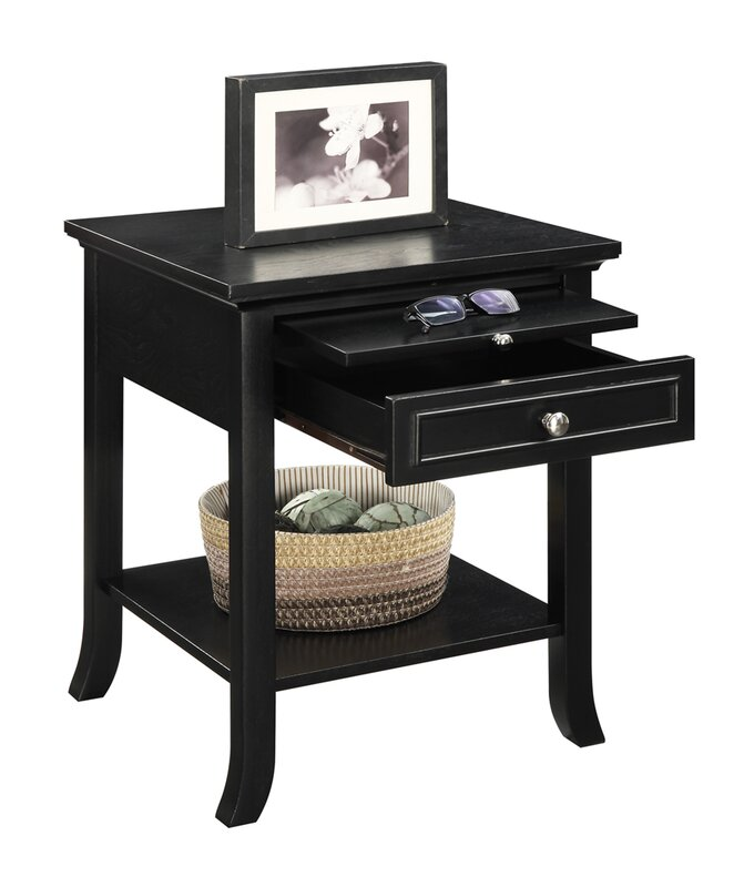 Andover Mills End Table With Storage Reviews Wayfair
