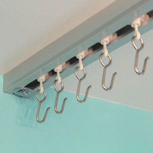 ceiling track for curtains inspiration curtain track set hardware accessories youll love wayfair