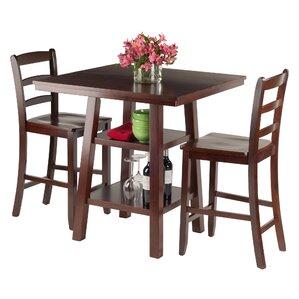 Orlando 3 Piece Pub Table Set by Luxury H..
