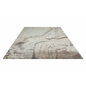 Annan Hand Tufted Silver Cloud Indoor Area Rug