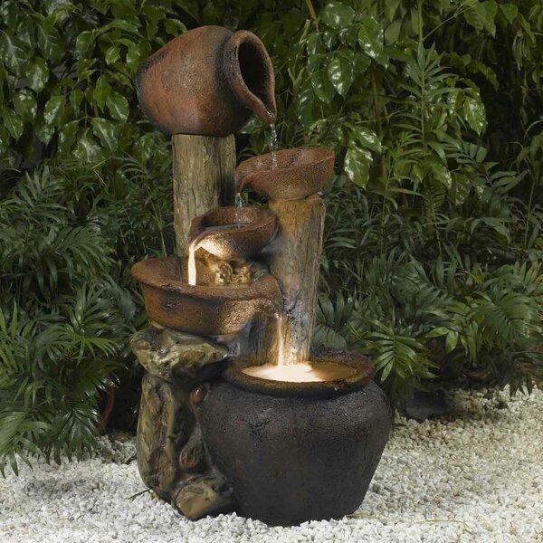 Jeco Inc. Resin/Fiberglass Pentole Pot Indoor/Outdoor Fountain ...