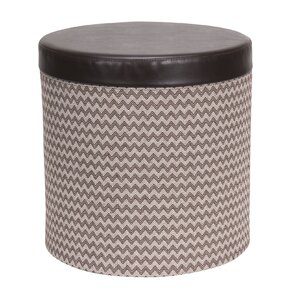 Round Storage Ottoman by Household Essentials