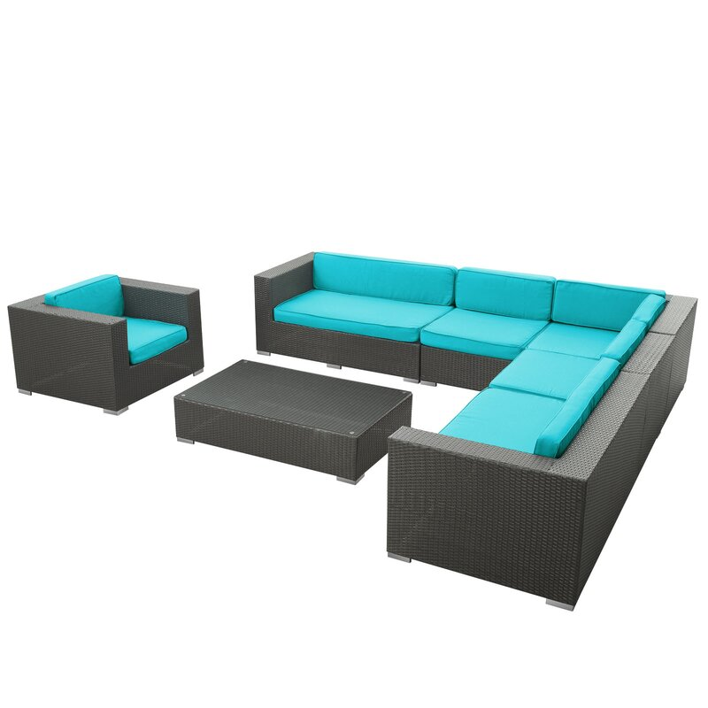P983443 also P983902 further P983436 as well P983598 additionally P983900. on outdoor patio sectional set espresso turquoise by modway furniture