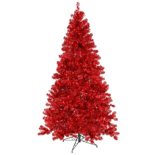 4 red pine artificial christmas tree with 150 red lights with stand