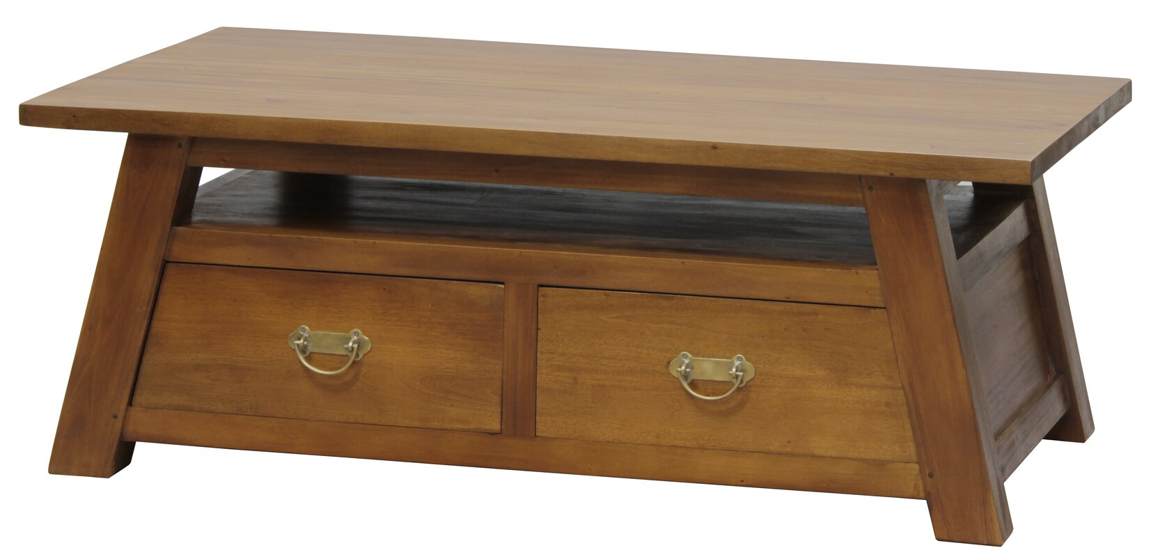 Japanese Fine Handcrafted Solid Mahogany Wood Coffee Table