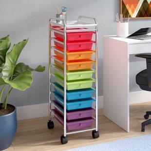 Eady 10-Drawer Storage Chest & 10 Drawer Storage Cart | Wayfair