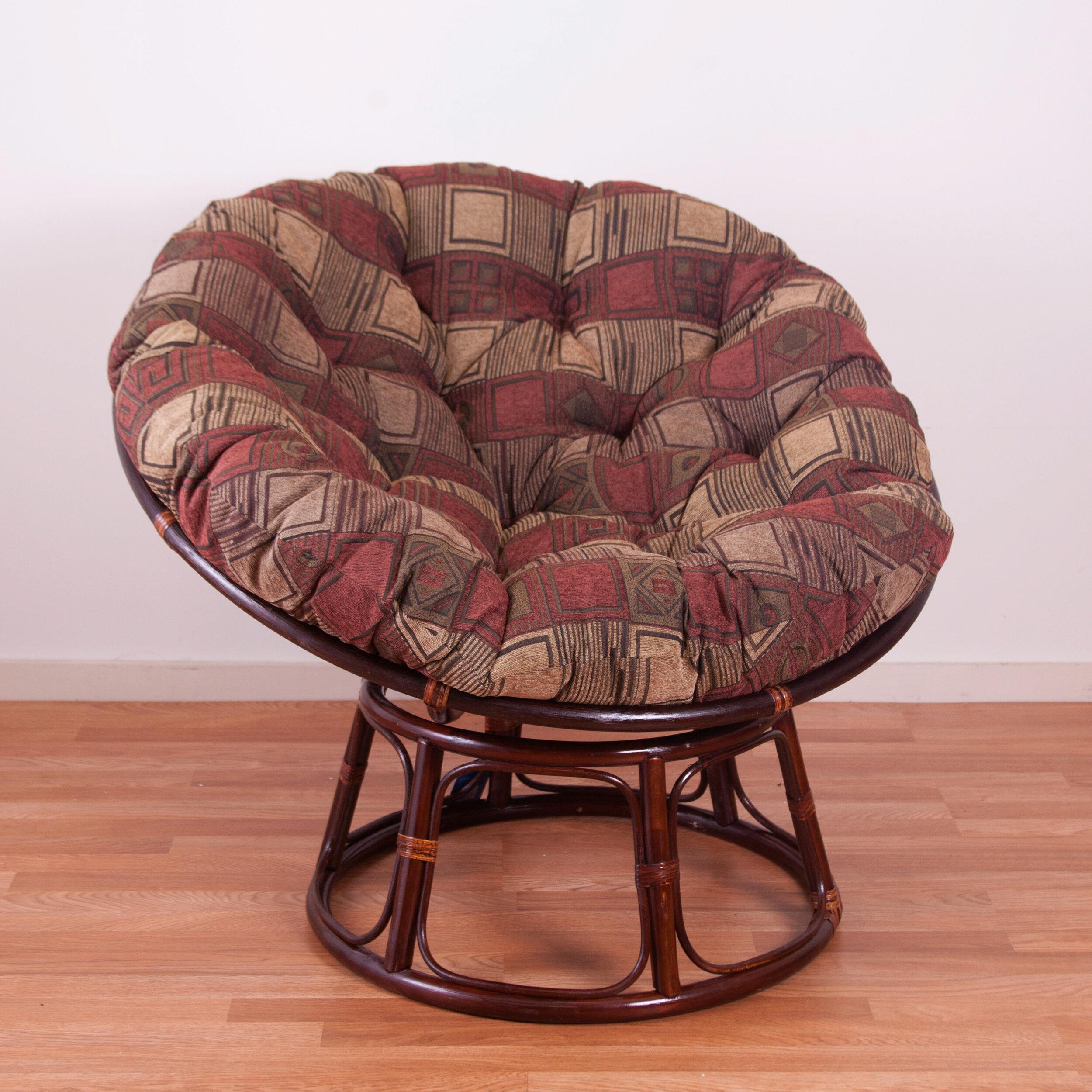 & Blazing Needles Chenille Papasan Chair Cushion u0026 Reviews | Wayfair