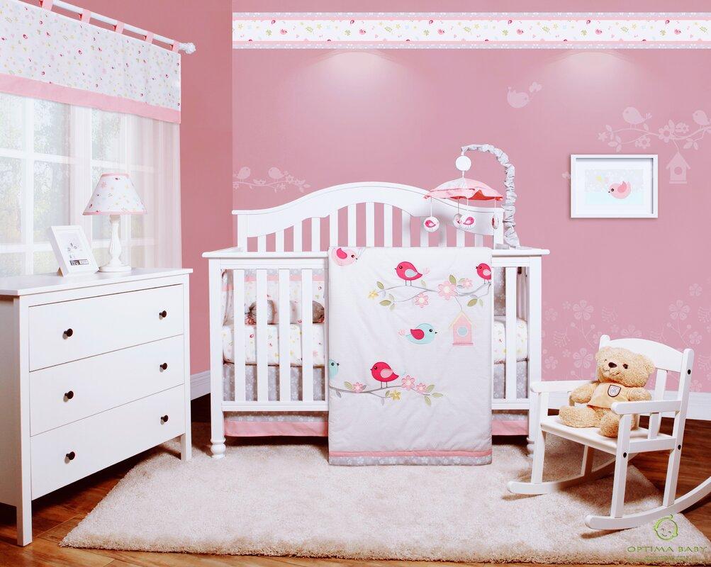 7a721ddde023 Harriet Bee Donaway Happy Enchanted Birds 6 Piece Baby Girl Nursery ...