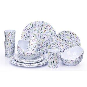 Melamine Willow 16 Piece Dinnerware Set