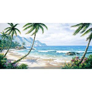 'Paradise' Painting Print on Wrapped Canvas
