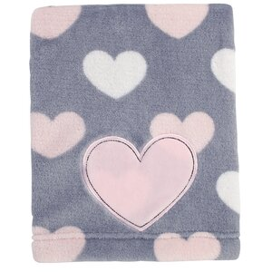 Hugs and Kisses Print Coral Fleece Blanket