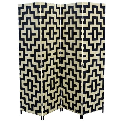 Bungalow Rose Benbrook 4 Panel Room Divider