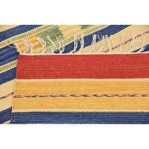Pheonix Handmade Kilim Wool Cream Area Rug