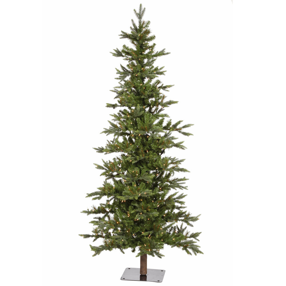 Fake Christmas Tree Stand.Shawnee Fir 7 Green Alpine Artificial Christmas Tree With 350 Clear Lights With Stand